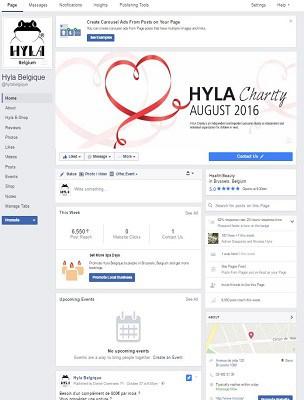 La page Facebook de Hyla Belgique