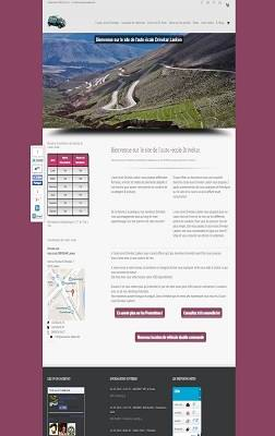Site Web de l'auto-école Drivekar.