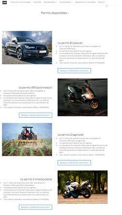 Site Web du permis théorique en ligne