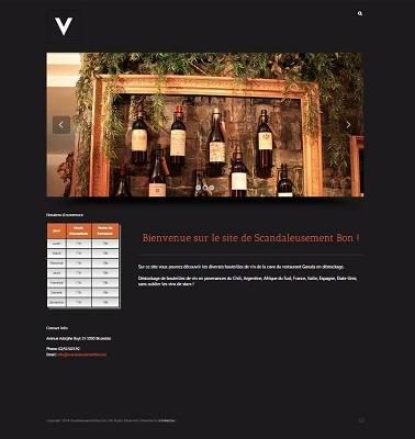 Site Web du café Scandaleusement Bon
